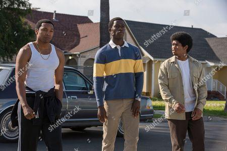 Malcolm Mays as Kevin Hamilton, Damson Idris as Franklin Saint and Isaiah John as Leon Simmons
