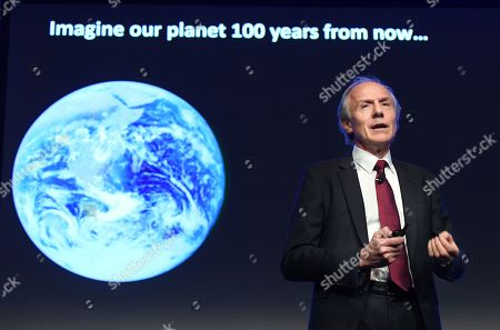 Stock Picture of Australian Chief Scientist Alan Finkel addresses the Clean Energy summit at the International Convention Centre in Sydney, New South Wales, Australia, 30 July 2019. The Clean Energy Summit explores the challenges for Australia's energy system.
