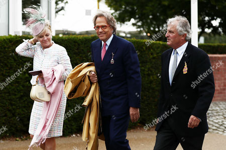 Earl of March Charles Gordon-Lennox, Owner of Goodwood (centre) arrives.