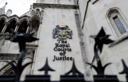 A view of The Royal Courts of Justice also known as The High Court in London, . Sheikh Mohammed bin Rashid al-Maktoum has made an application to divorce his wife of 15 years, Princess Haya Bint al-Hussein, in the Family Court Division of the High Court
