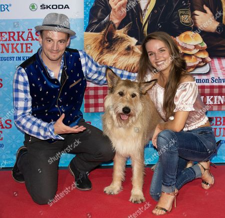 Stock Picture of Guests with Dog Joker