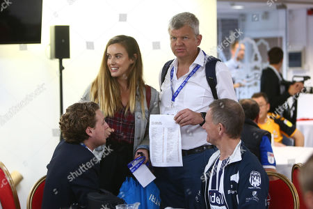 Stock Photo of Adrian Chiles mingles during the event