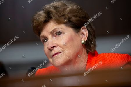 United States Senator Jeanne Shaheen (Democrat of New Hampshire) listens to Air Force General John Hyten, who is nominated to become Vice Chairman Of The Joint Chiefs Of Staff, testify before the U.S. Senate Committee on Armed Services during his confirmation hearing on Capitol Hill in Washington D.C.