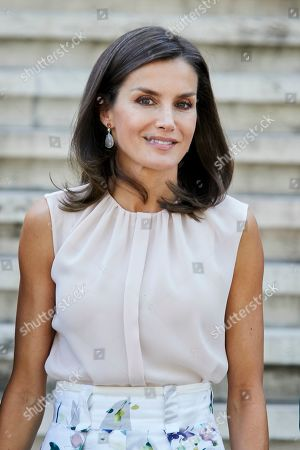 Queen Letizia visits the Spanish National Library, Madrid