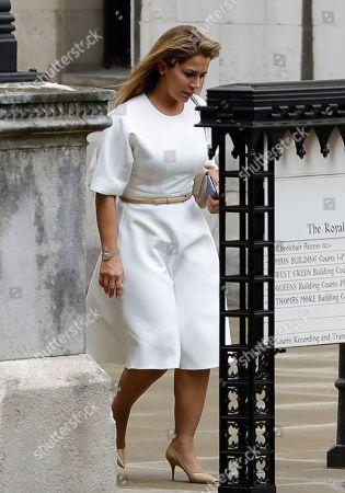 Princess Haya Jordan High Court London Stock Photos (Exclusive