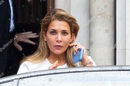 Princess Haya of Jordan at the High Court, London