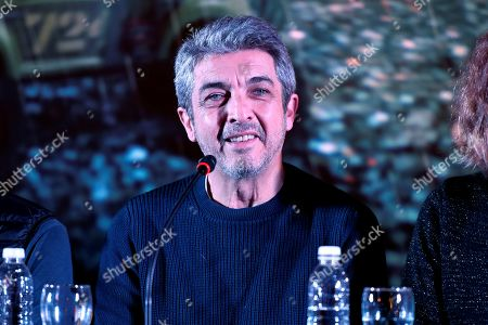 Argentinian actor Ricardo Darin speaks during a press conference in which he presents his latest film 'La odisea de los giles', which stars and produces along with his son, Chino Darin, under the direction of Sebastian Borensztein, in Buenos Aires, Argentina, 30 July 2019. The film, based on Eduardo Sacheri's novel 'La Noche de la Usina', will premiere in Argentinian theaters on 15 August.