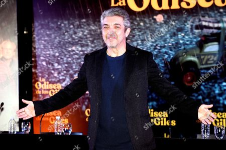 Argentinian actor Ricardo Darin poses during a press conference in which he presents his latest film 'La odisea de los giles', which stars and produces along with his son, Chino Darin, under the direction of Sebastian Borensztein, in Buenos Aires, Argentina, 30 July 2019. The film, based on Eduardo Sacheri's novel 'La Noche de la Usina', will premiere in Argentinian theaters on 15 August.