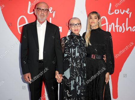 Viktor Yelchin, Irina Yelchin and Sofia Boutella