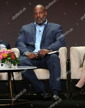 """Stock Picture of Journalist Jelani Cobb participates in PBS's """"McCarthy"""" panel at the Television Critics Association Summer Press Tour, in Beverly Hills, Calif"""