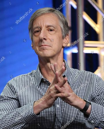"""Andy Borowitz participates in PBS's """"Retro Report"""" panel at the Television Critics Association Summer Press Tour, in Beverly Hills, Calif"""