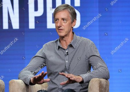 """Stock Image of Andy Borowitz participates in PBS's """"Retro Report"""" panel at the Television Critics Association Summer Press Tour, in Beverly Hills, Calif"""
