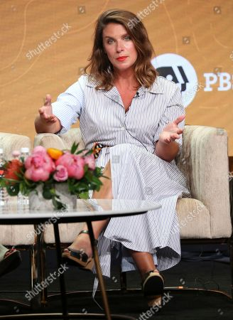 """Stock Picture of Chef/host Vivian Howard participates in PBS's """"No Passport Required"""" and """"South By Somewhere"""" panel at the Television Critics Association Summer Press Tour, in Beverly Hills, Calif"""