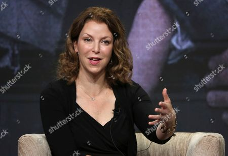 "Stock Image of Frontline"" executive producer Raney Aronson-Rath participates in PBS's ""For Sama"" panel at the Television Critics Association Summer Press Tour, in Beverly Hills, Calif"