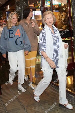 Former Queen Sofia of Spain and granddaughters out and about, Palma