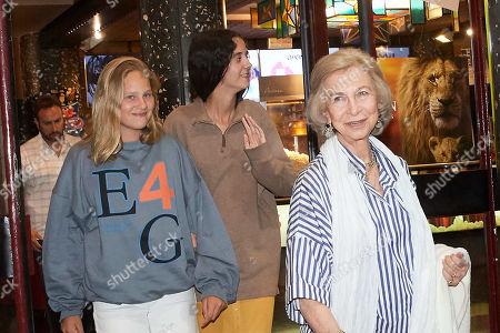 Former Queen Sofia of Spain, Victoria Federica de Marichalar, Irene Urdangarin y de Borbon