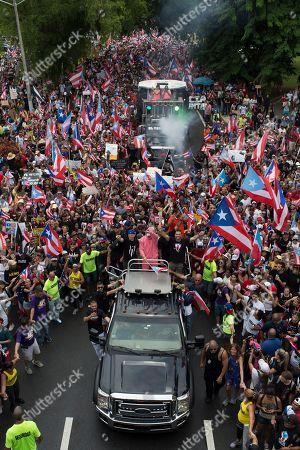 Editorial photo of Protesters, San Juan, Puerto Rico - 25 Jul 2019