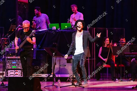 Stock Picture of Trevor Horn and Matt Cardle