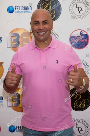 Carlos Beltran attends Hot in The Hamptons, hosted by Kristen Taekman and Flaviana Matata, at Thomas Halsey Homestead, in Southampton, NY