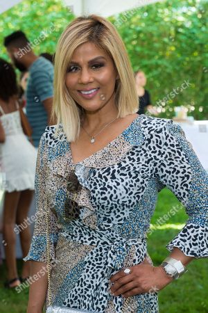 Pettifleur Berenger attends Hot in The Hamptons, hosted by Kristen Taekman and Flaviana Matata, at Thomas Halsey Homestead, in Southampton, NY