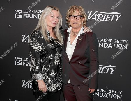 Stock Photo of Ariadne Getty and Claudia Eller