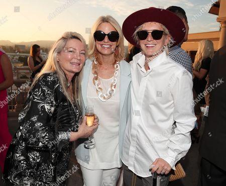 Ariadne Getty, Sarah Kate Ellis and Nats Getty