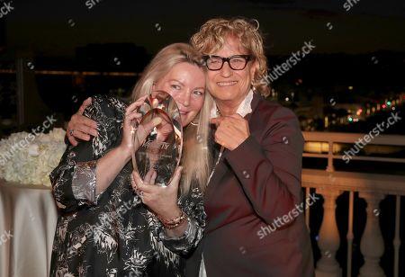 Stock Image of Ariadne Getty and Claudia Eller