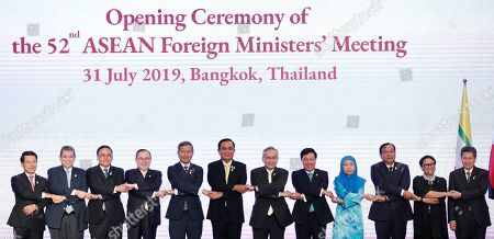 Editorial photo of 52nd ASEAN Foreign Ministers' Meeting and in Bangkok, Thailand - 31 Jul 2019