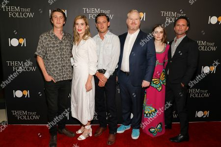 Stock Photo of Thomas Mann, Alice Englert, Lewis Pullman, Jim Gaffigan, Kaitlyn Dever and Walton Goggins