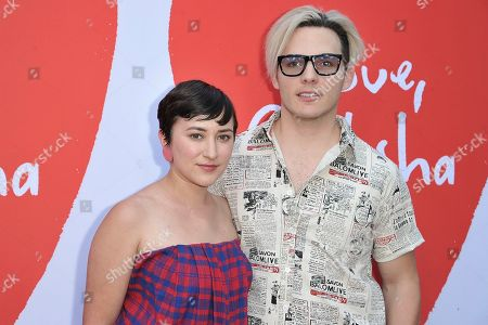 """Zelda Williams, Anthony Sneed. Zelda Williams, left, and Anthony Sneed attend the LA premiere of """"Love, Antosha"""" at ArcLight Cinemas - Hollywood, in Los Angeles"""