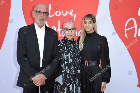 "Viktor Yelchin, Irina Korina, Sofia Boutella. Viktor Yelchin, from left, Irina Korina and Sofia Boutella attend the LA premiere of ""Love, Antosha,"" at ArcLight Cinemas - Hollywood, in Los Angeles"