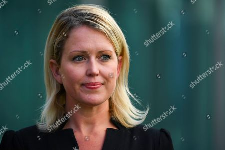 Julian Assange's London-based lawyer Jennifer Robinson speaks to the media during a press conference at Parliament House in Canberra, Australia, 31 July 2019. Robinson was in Canberra to brief politicians on Julian Assange current legal situation.