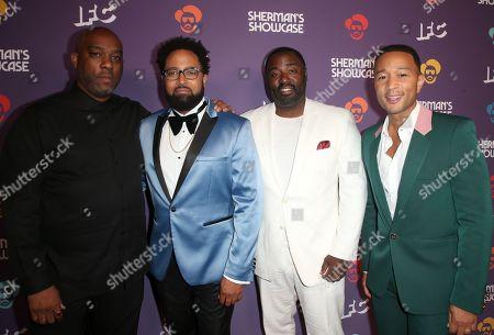 Stock Photo of Mike Jackson, Diallo Riddle, Bashir Salahuddin, John Legend