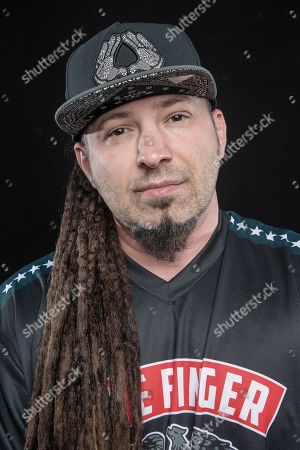 Jacksonville United States - April 27: Portrait Of Hungarian-american Musician Zoltan Bathory Guitarist With Heavy Metal Group Five Finger Death Punch Photographed In Jacksonville Florida On April 27