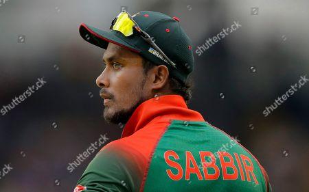 Bangladeshes' Sabbir Rahman stands on the field during the third one-day international cricket match between Sri Lanka and Bangladesh in Colombo, Sri Lanka