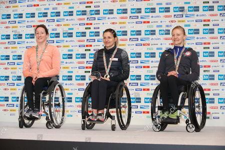 Tatyana McFadden (USA), Manuela Schar (Switzerland) and Susannah Scaroni (USA)