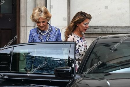 Stock Picture of Princess Haya bint Al Hussein (R) and solicitor Baroness Fiona Shackleton leave the High Court in Central London, Britain, 31 July 2019. Princess Haya bint Al Hussein, the estranged wife of Dubai ruler, Sheikh Mohammed bin Rashid Al Maktoum, is seeking a protection order in Britain. She reportedly fled to the UK from UAE earlier this year with her two children.