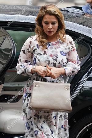 Princess Haya bint Al Hussein arrives at the High Court in Central London, Britain, 31 July 2019. Princess Haya bint Al Hussein, the estranged wife of Dubai ruler, Sheikh Mohammed bin Rashid Al Maktoum, is seeking a protection order in Britain. She reportedly fled to the UK from UAE earlier this year with her two children.
