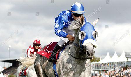 EBRAZ (Maxime Guyon) wins The Qatar International Stakes Goodwood