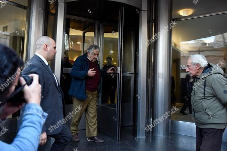 Former President of Uruguay Jose Mujica leaves after attending the wake of Maria Auxiliadora Delgado, wife of Uruguayan President Tabare Vazquez, in Montevideo, Uruguay, . Uruguay's presidency confirmed that Delgado died of a heart attack during the early morning hours