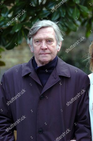 Stock Photo of Actor Tom Courtenay At A Memorial For David Hemmings At Saint Mary On Paddington Green Church In London.