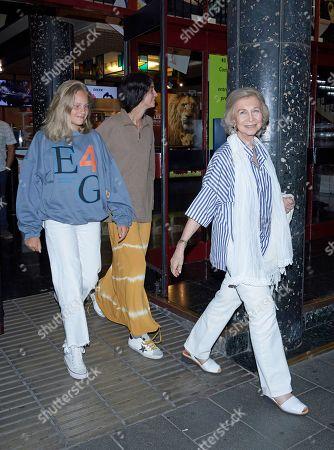 Stock Photo of Irene Urdangarin y de Borbon, Victoria Federica de Marichalar and Former Queen Sofia
