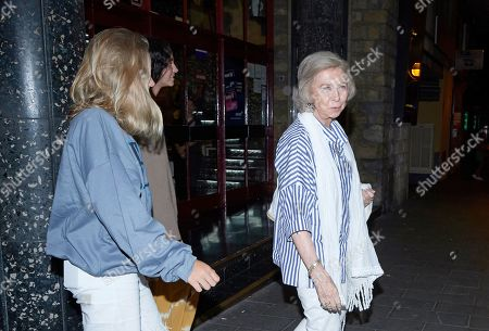 Editorial picture of Queen Sofia out and about with her grand-daughters, Palma, Spain - 30 Jul 2019