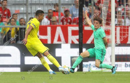 Nabil Dirar of Fenerbahce scores a goal to make the score 2-2