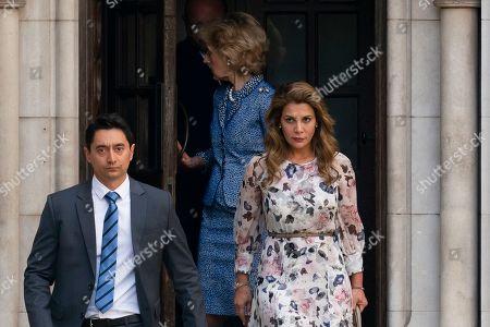 Princess Haya of Jordan bint Hussein leaves the High Court in Central London, Britain, 31st July 2019. Princess Haya of Jordan bint Hussein, the estranged wife of Sheikh Mohammed bin Rashid Al Maktoum is seeking a protection order in Britain.