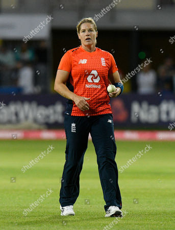 Katherine Brunt of England during the 3rd Vitality International T20 match between England Women Cricket and Australia Women at the Bristol County Ground, Bristol