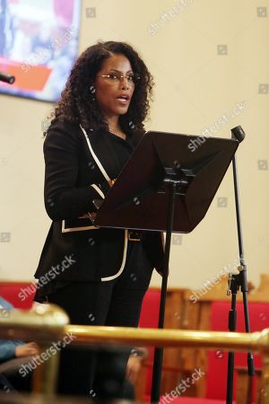 Ilyasah Shabazz, speaks during the 5th Anniversary event.