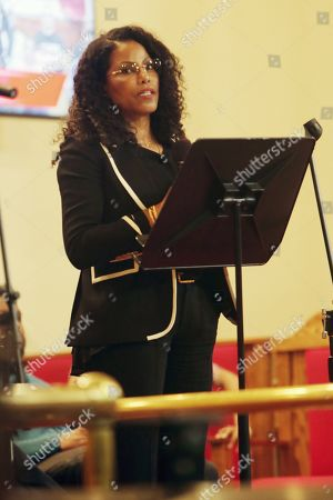 Stock Image of Ilyasah Shabazz, speaks during the 5th Anniversary event.