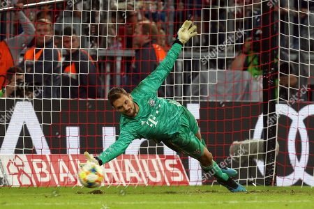 Sven Ulreich of Bayern Munich during the penalty shoot put  during Tottenham Hotspur vs FC Bayern Munich, Audi Cup Final Football at the Allianz Arena on 31st July 2019