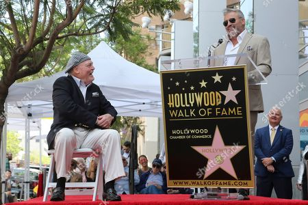 Stacy Keach, Matt LeBlanc. Stacy Keach, left, smiles as Matt LeBlanc speaks at the ceremony honoring Keach with a star at the Hollywood Walk of Fame, in Los Angeles